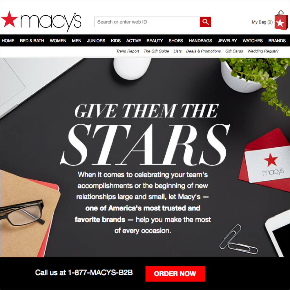Macy's Corporate Sales Micro-Site