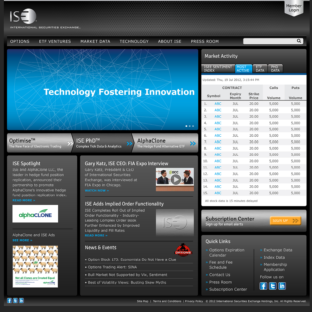 ISE Website Design